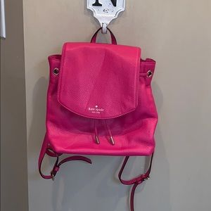 Kate Spade hot pink leather backpack purse